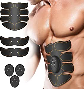 Muscle Toner, LZLRUN Abdominal Toning Belt, EMS Abs Trainer Wireless Body Gym Workout Home Office Fitness Equipment for Abdomen/Arm/Leg Training Men Women