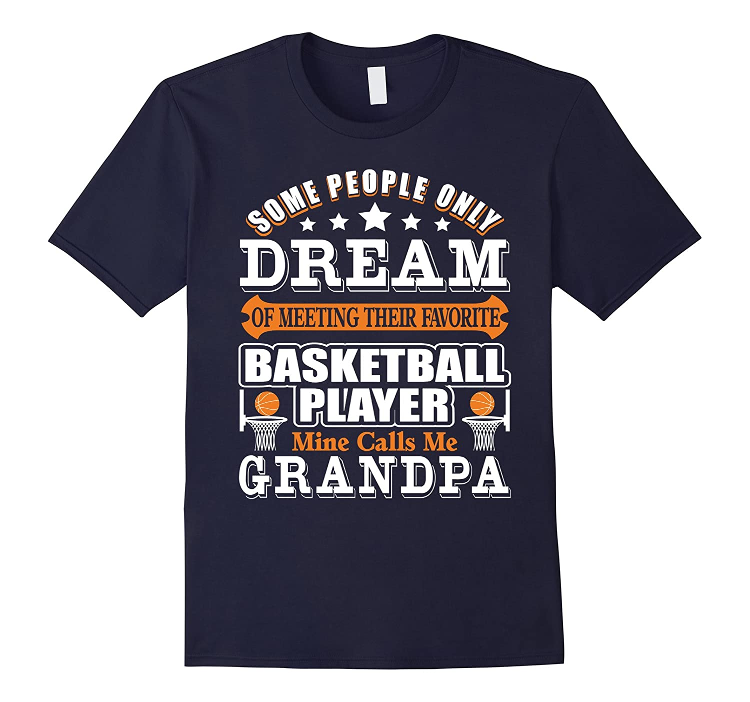 Mens Basketball Grandpa Shirt  Basketball Grandpa T-Shirt-Vaci