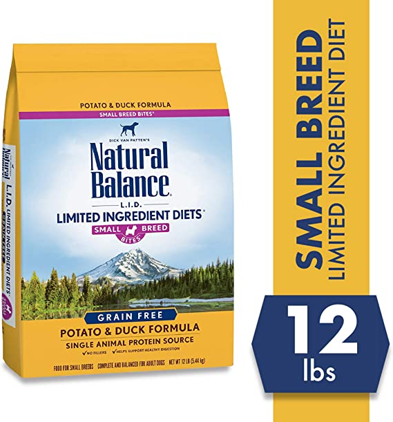 Natural Balance Limited Ingredient Dry Dog Food - Best L.I.D. Food for Sensitive Stomach