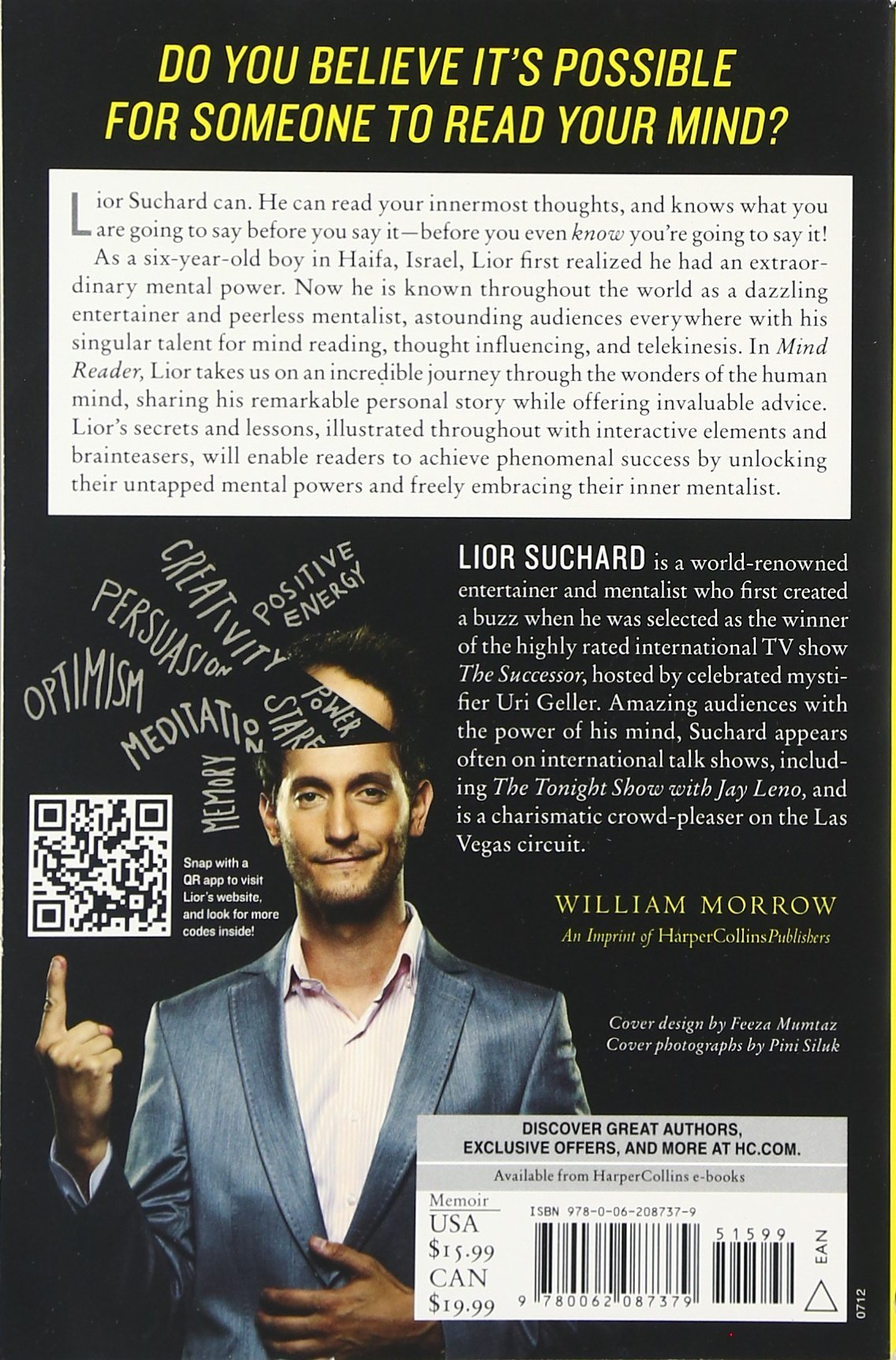 Amazon: Mind Reader: Unlocking The Power Of Your Mind To Get What You  Want (9780062087379): Lior Suchard: Books