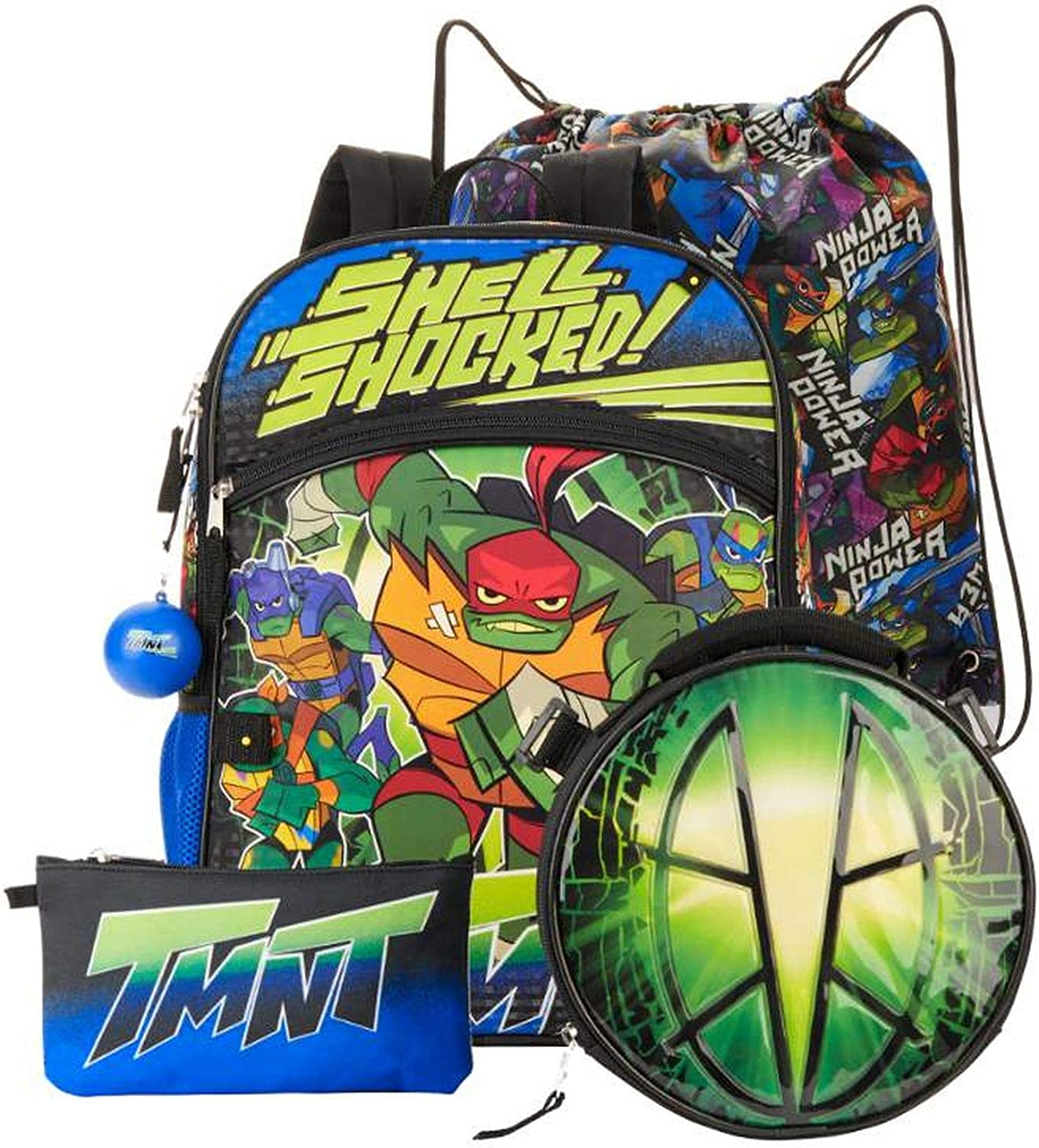 5 Piece Turtle Backpack Set