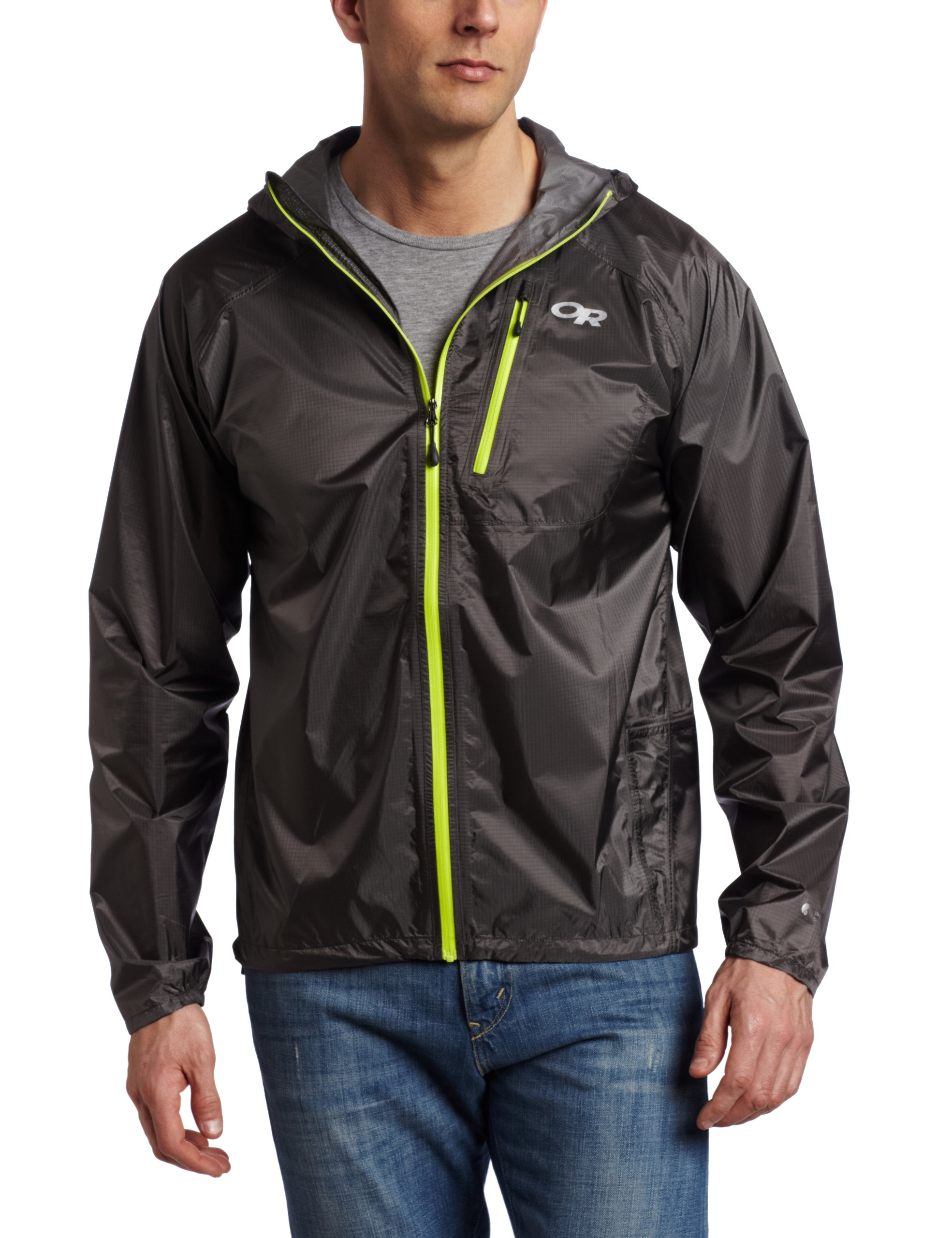 Outdoor Research Men's Helium II Jacket, Pewter, Large by Outdoor Research