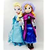 "Disney Frozen Sisters Doll Set Featuring 16"" Plush Dolls of Anna and Elsa by Disney [Toy]"