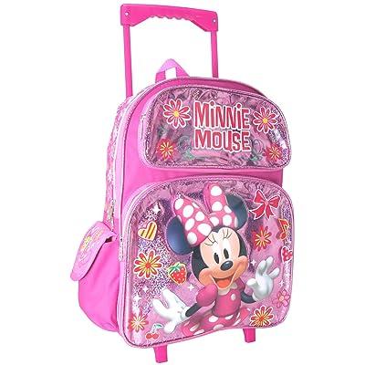 "Junior Minnie Mouse Shine Girl's 16"" Roller/Rolling Large Backpack | Kids' Backpacks"