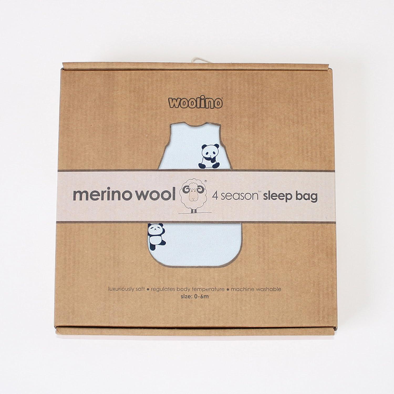 Woolino Baby-Schlaf Tasche 4 Jahreszeiten grundlegende Merino Wolle Baby-Schlafsack