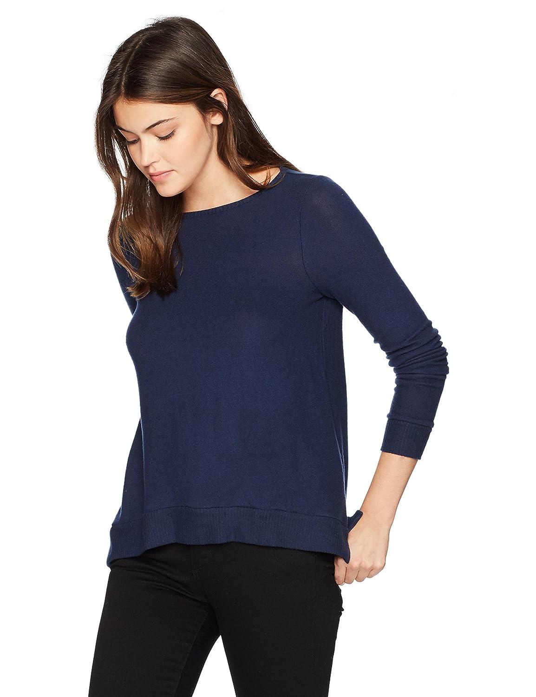 Three Dots Women's Brushed Sweater British Loose Mid Shirt QQ2593