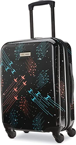 American Tourister Star Wars Hardside Spinner Wheel Luggage, Galaxy, Carry-On 20-Inch