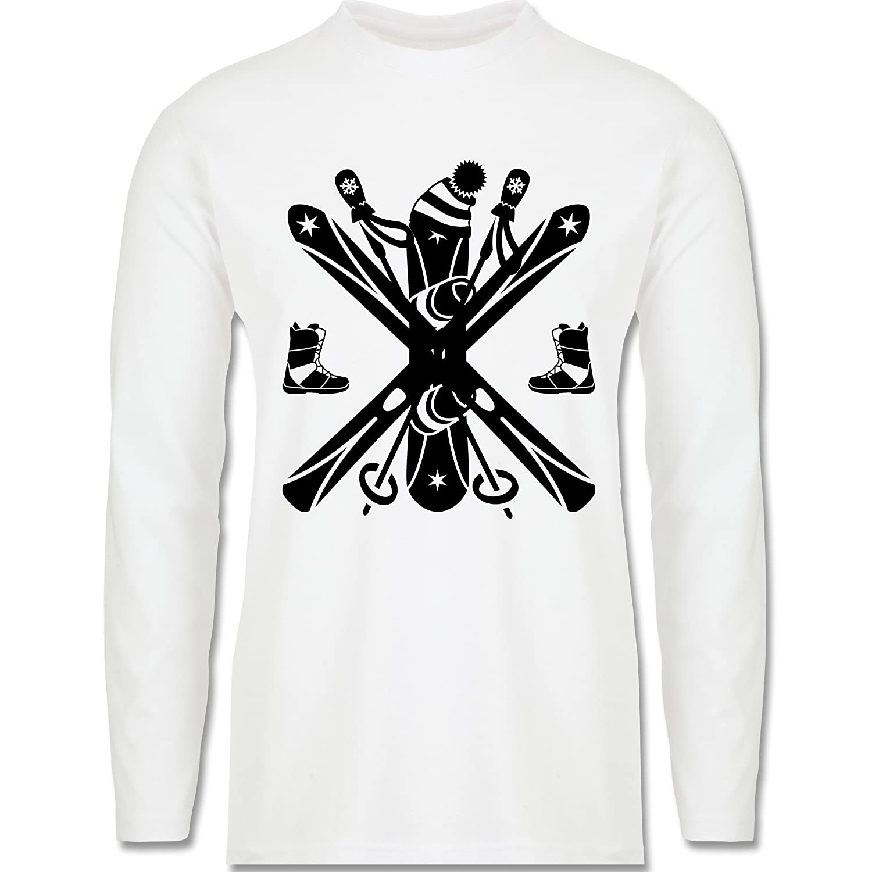 Wintersport - Ski Snowboard Wintersport - Longsleeve / langärmeliges T-Shirt für Herren