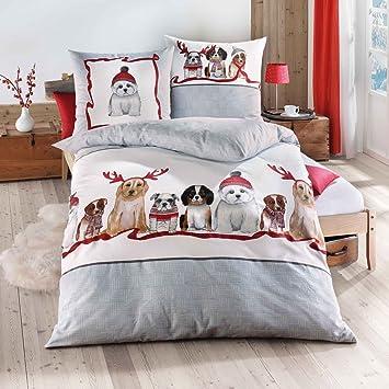 Traumschlaf Biber Bettwäsche Dogs 1 Bettbezug 135x200 Cm 1