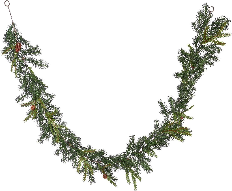 Vickerman 6' Hemlock-Angel Pine Artificial Christmas Garland, Unlit - Faux Pine Christmas Garland - Indoor Seasonal Home Decor