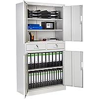 TecTake Armario archivador de Oficina metálico con 4