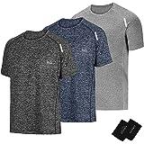 LIFINAIS Men's Athletic T-Shirt Workout Sports Tech Short Sleeve tee Shirts Gym Dri Fit Training Clothes