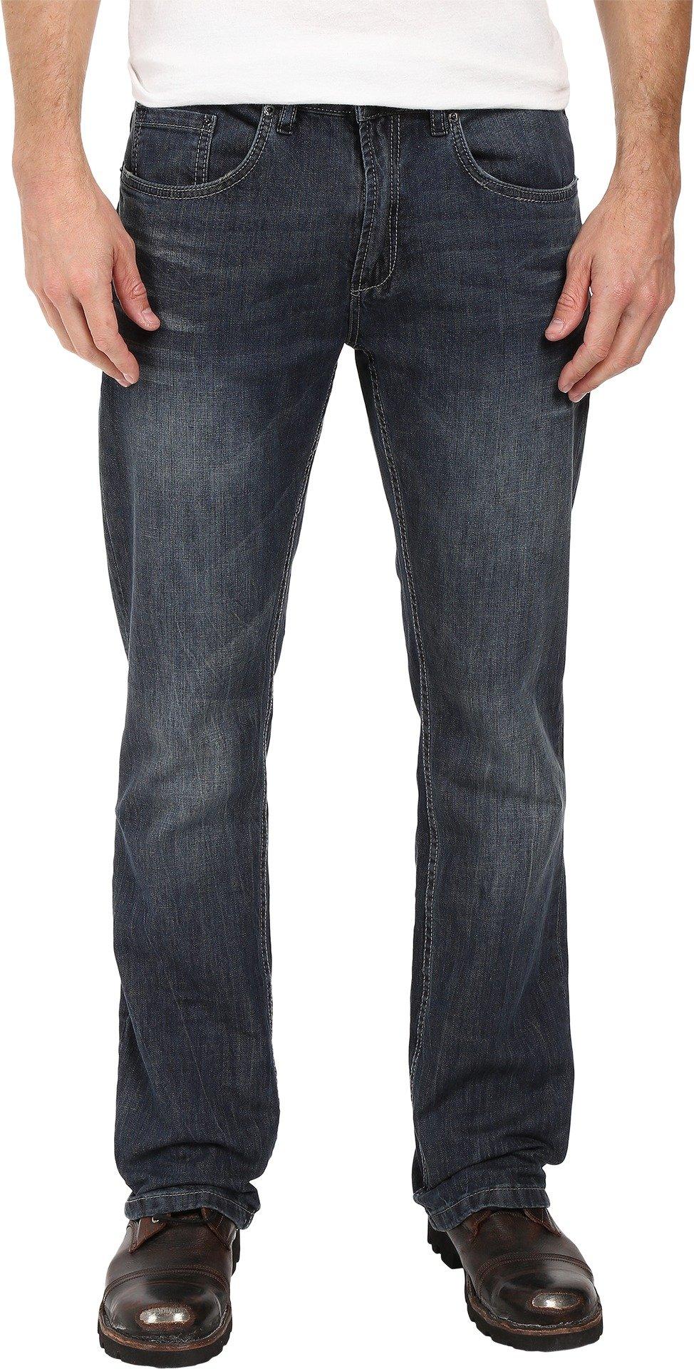 Buffalo David Bitton  Men's King Slim Boot Cut in Sandblasted/Vintage Sandblasted/Vintage Jeans