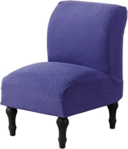 Dingtuo Armless Chair Slipcovers Stretch Furniture Protector Covers Sofa Covers Contemporary Accent Chair Slipcover Navy