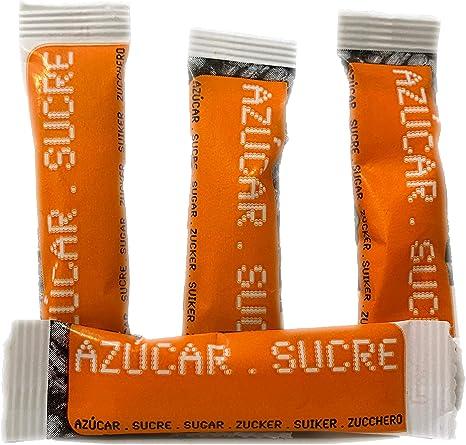 AZÚCAR BLANCO. 200 sobres de azúcar. Sobrecitos de azúcar de 6 gramos. Azúcar blanco de alta