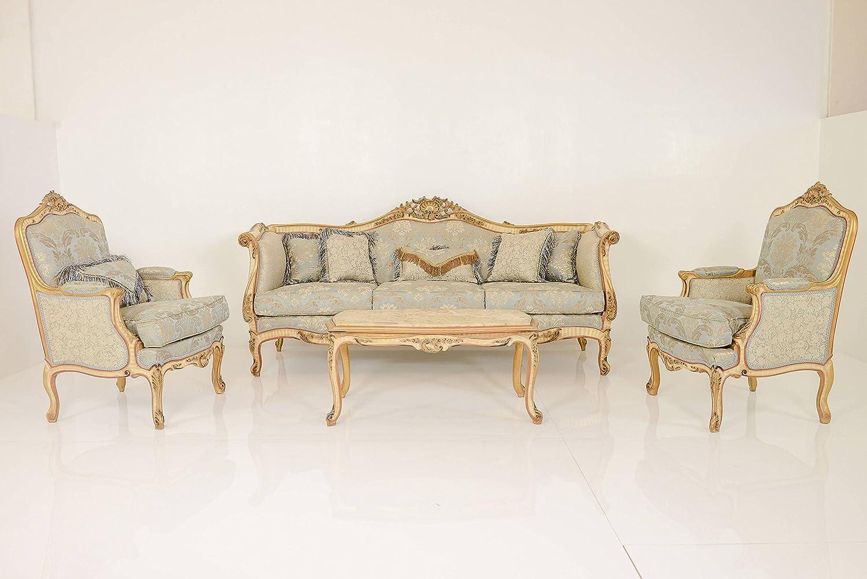 Luxus Wohnzimmer Set Gold Stil Antik Barock Rokkoko Louis . Wohnzimmer  Beige Gold Barock ...