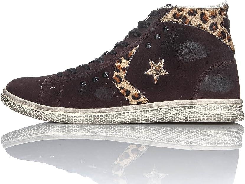 Converse PRO Leather Mid Suede Ltd Cioccolato EU : Amazon.it ...