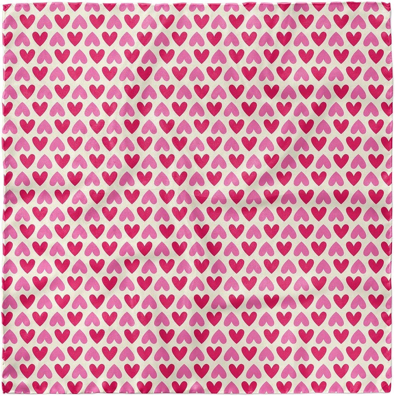 Hijab Scarf Ambesonne Pink and White Headscarf Pinkish Hearts
