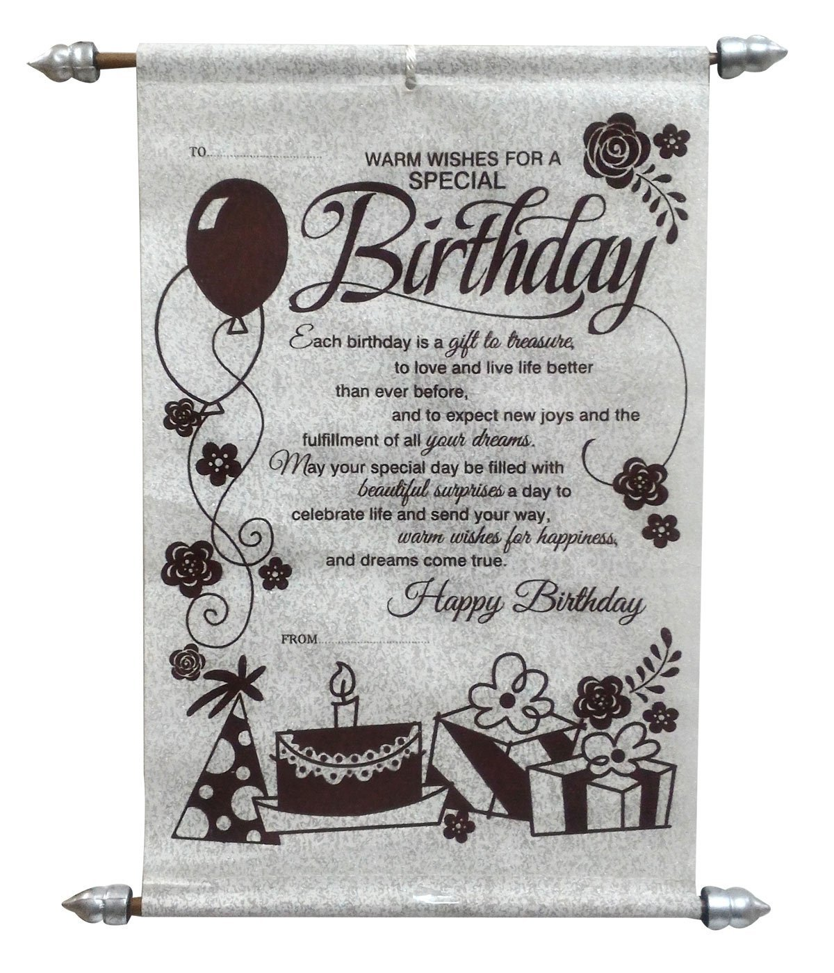 Natali Happy Birthday Scroll Card For Best Friend Girls Sister Wife Or Husband Amazon In Toys Games