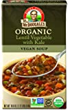 Dr. McDougall's Right Foods Organic Lentil Vegetable Soup with Kale, 18 oz. (Pack of 6)