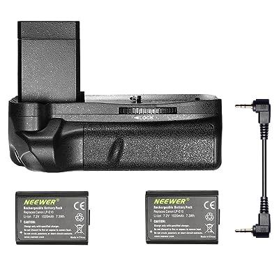Neewer® Vertical empuñadura de batería con 2piezas LP-E10batería de repuesto para Canon EOS 1100d/1200d/1300d/Rebel T3/T5/T6