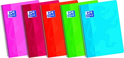 Oxford Classic - Pack de 5 cuadernos A4 blanco de tapa blanda, Fº: Amazon.es: Oficina y papelería