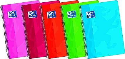 Oxford Classic - Pack de 5 cuadernos A4 blanco de tapa blanda, Fº ...