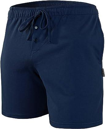Sesto Senso Pantalones Cortos de Pijama Hombre Algodón Pantalón de Dormir