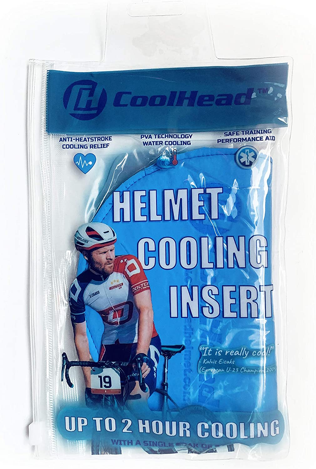 CoolHead Cooling Hat/Helmet Insert Liner Pad Any Sports Activities