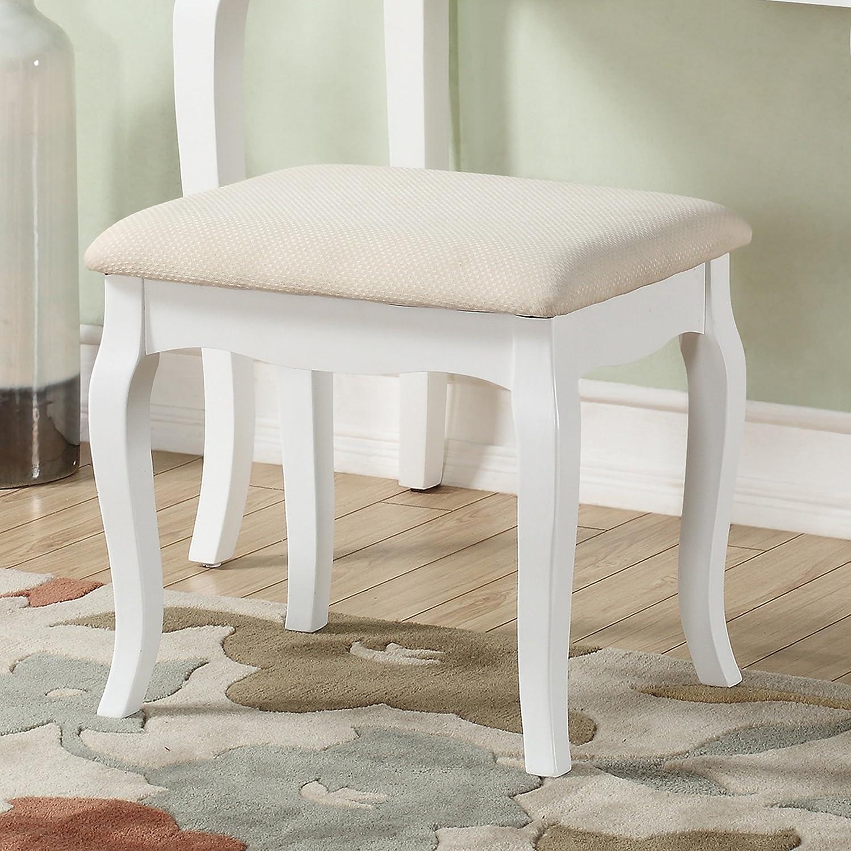 Amazon Roundhill Furniture Ashley Wood Make Up Vanity Table