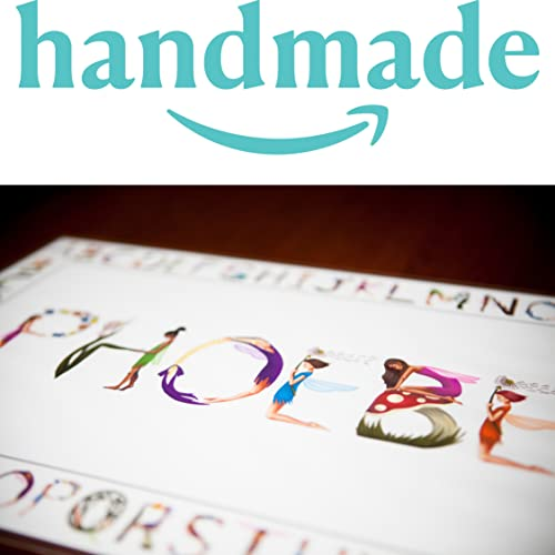 Personalized Placemat For Kids With Unique Hand Drawn Letter Artwork Truly Unique Name Gifts