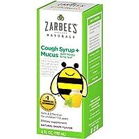 Zarbee's Naturals Children's Cough Syrup* + Mucus with Dark Honey, Grape Flavor,...