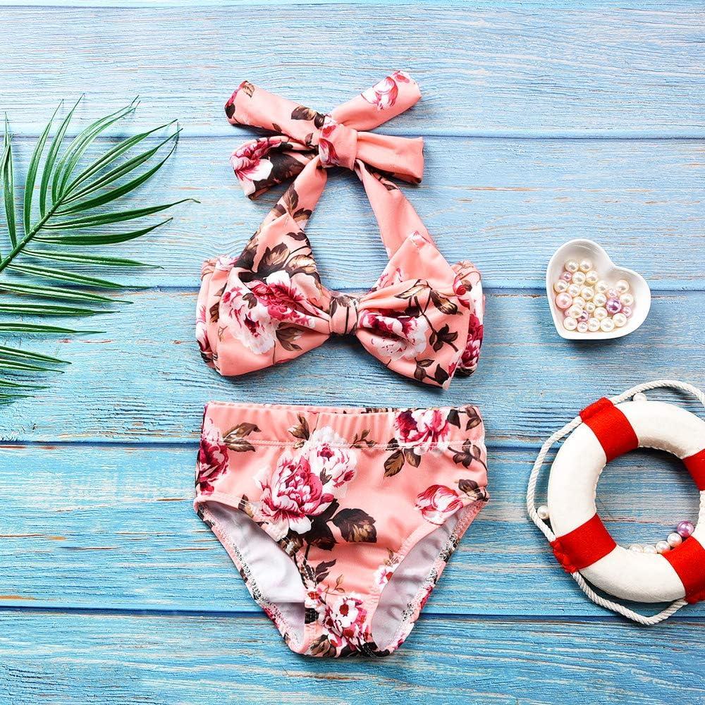 Floral Short Bottoms Bikini Tankini Badeanzug Badebekleidung HINITINA 2 St/ück Baby M/ädchen Halfter Bowknot Tube Top