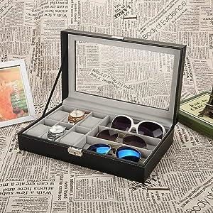 Betued Caja de Almacenamiento para Gafas de Sol, 9+3 Joyero ...