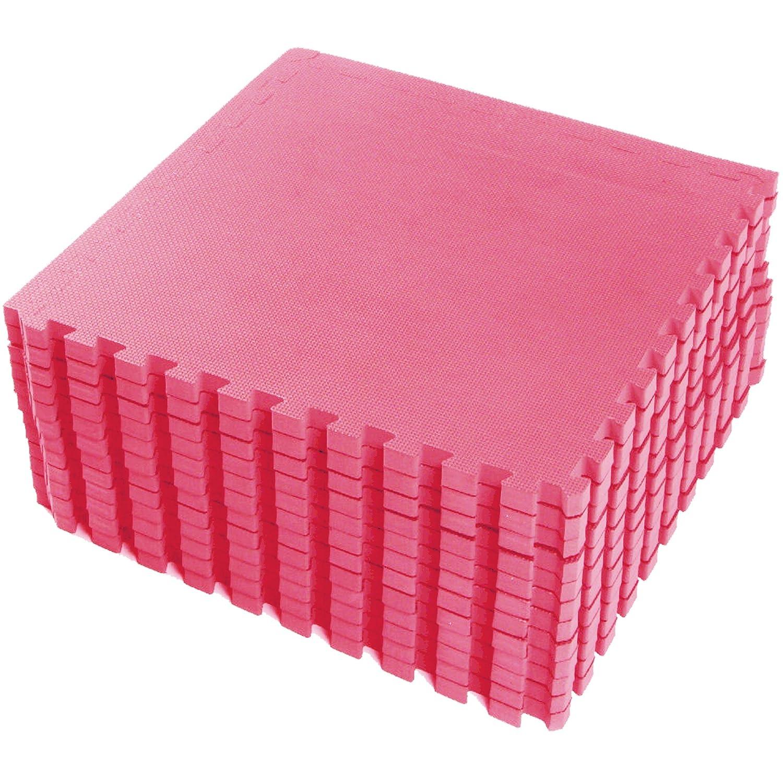 FT easimat Reversible estera alfombrillas de suelo de protecci/ón para gimnasio al aire libre//uso en interiores adecuado/ /-60/x 60/cm FB FunkyBuys/® rosa 16/SQ