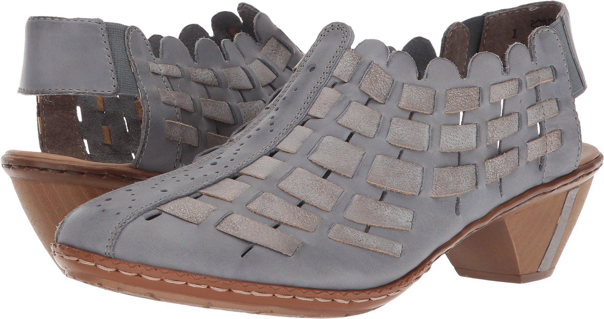 Rieker Women's 46778 Sina 78 Azur/Grey 36 M EU