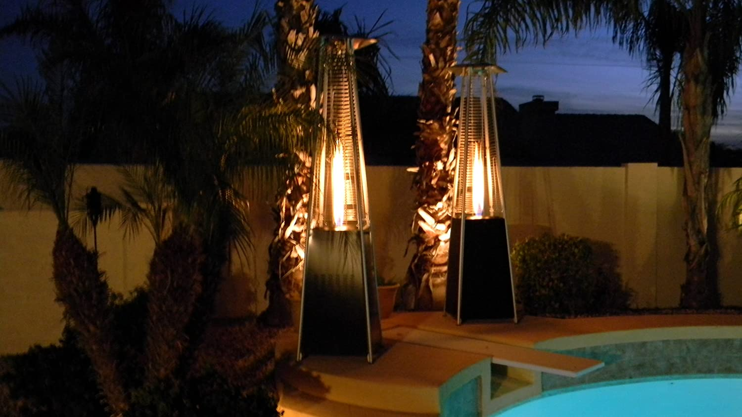 AZ Patio Heaters Glass Tube Patio Heater, Bronze, 19x19x89 Cm:  Amazon.co.uk: Garden U0026 Outdoors