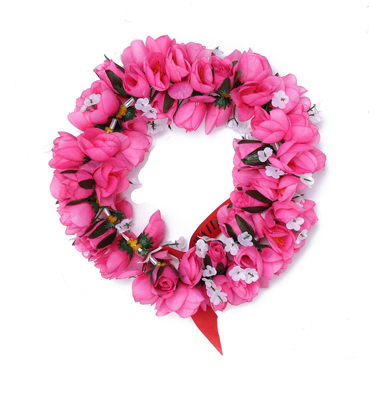 Amazon.com  Hawaiian Luau Party Kapiolani Tuberose Artificial Fabric Flower Headband  Haku Pink  Clothing c36f84d39df