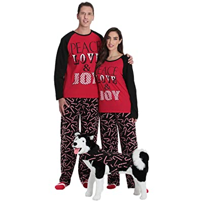 #followme Matching Christmas Pajamas for Couples, Dog and Owner at Amazon Women's Clothing store
