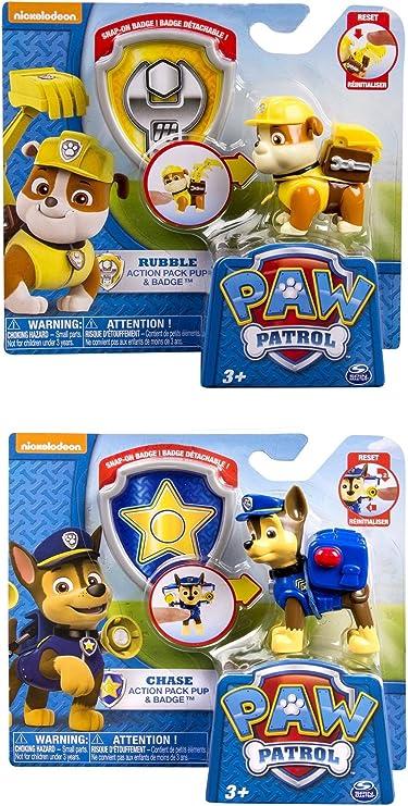 Marshall Y Rubble 53x28x19cm Astro Europa Bolsa DE Deporte LA Patrulla Canina Pup Heroes con Chase