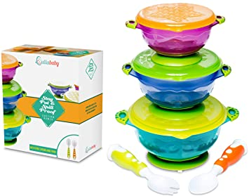 STAY PUT SUCTION BABY BOWLS - Suction Toddler Spill Proof Feeding Set   Bonus Spoon and  sc 1 st  Amazon.com & Amazon.com : STAY PUT SUCTION BABY BOWLS - Suction Toddler Spill ...