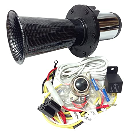 amazon com: oemlink international ltd ooga horn carbon antique classic car  hot rod oooga ahooga with installation wire kit and button: automotive