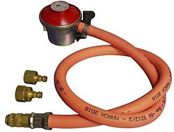 Kända NEW PROPANE GAS REGULATOR HOSE & CLIP FOR BBQ CAMPING: Amazon.co CY-44