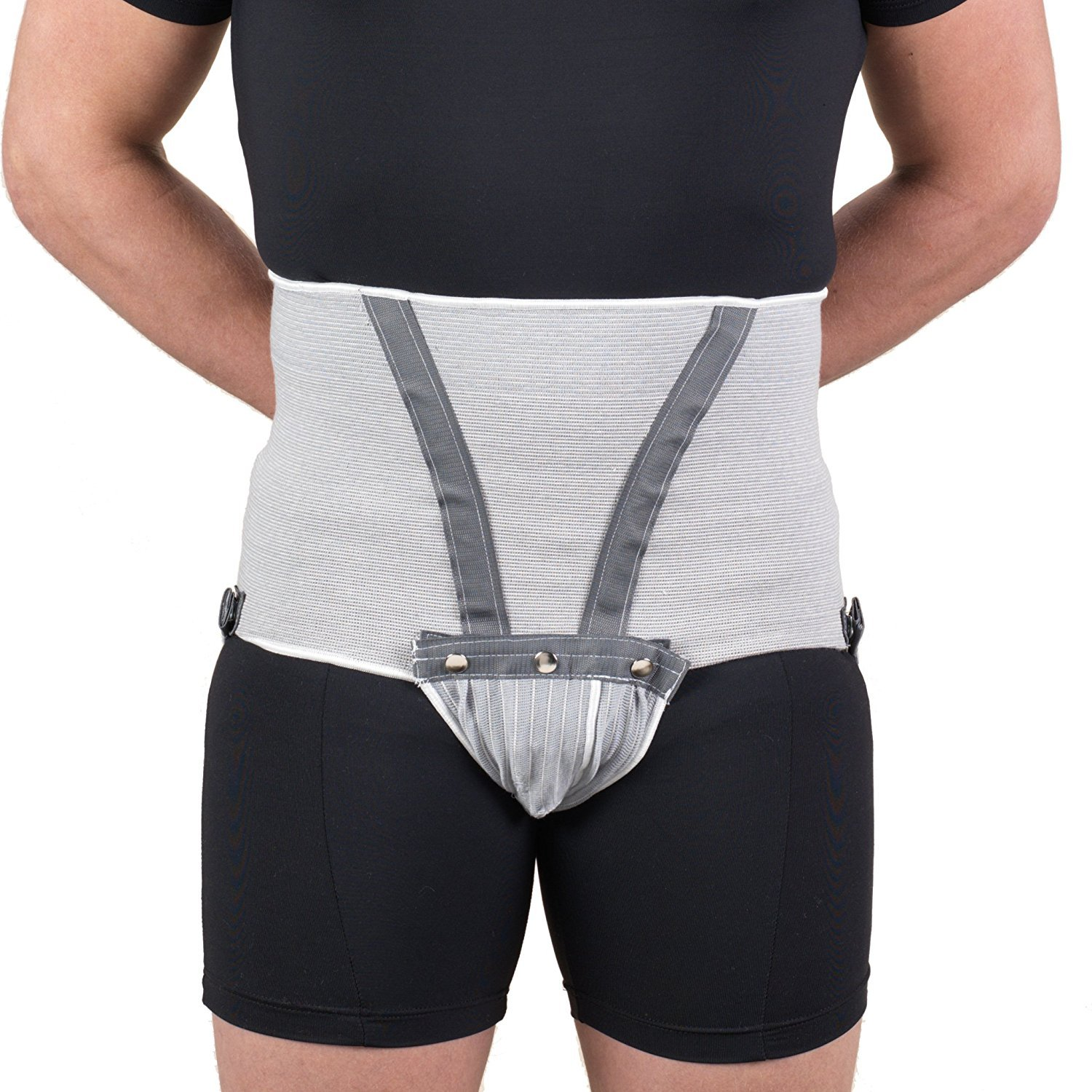 Men's Abdominal Supporter, Detachable Pouch, Professional Medical Style, X-Small (27-30 inch waist)