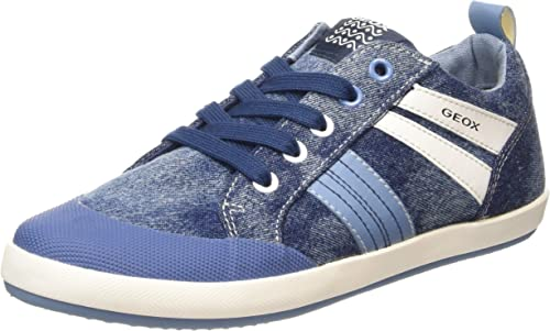 Geox Jungen Kiwi I Low Top Sneakers, blaurot