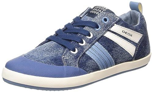 Sneakers bambino ragazzo in tela jeans modello kiwi Geox