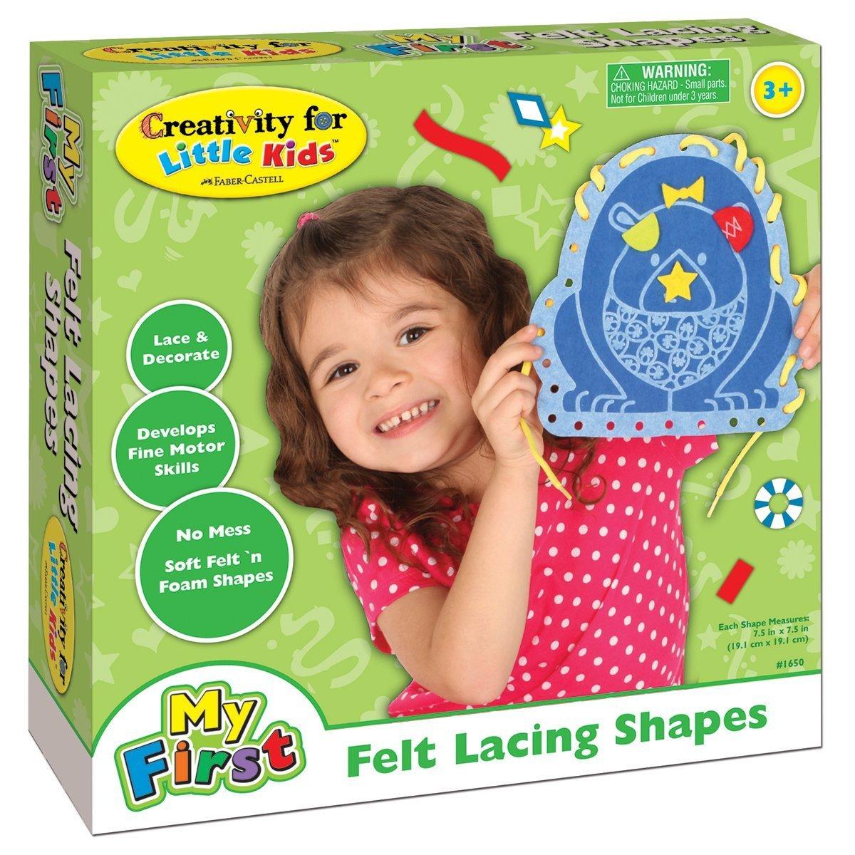 Creativity For Kids - My First Felt Lacing Shapes Kit B00IA5L0MO