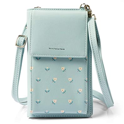 47db05a8a4a8 HMILYDYK Girls Cross Body Bag Floral Leather Mini Bag Mobil Phone Coin Purse  Card Holder Wallet Mini Shoulder Bag
