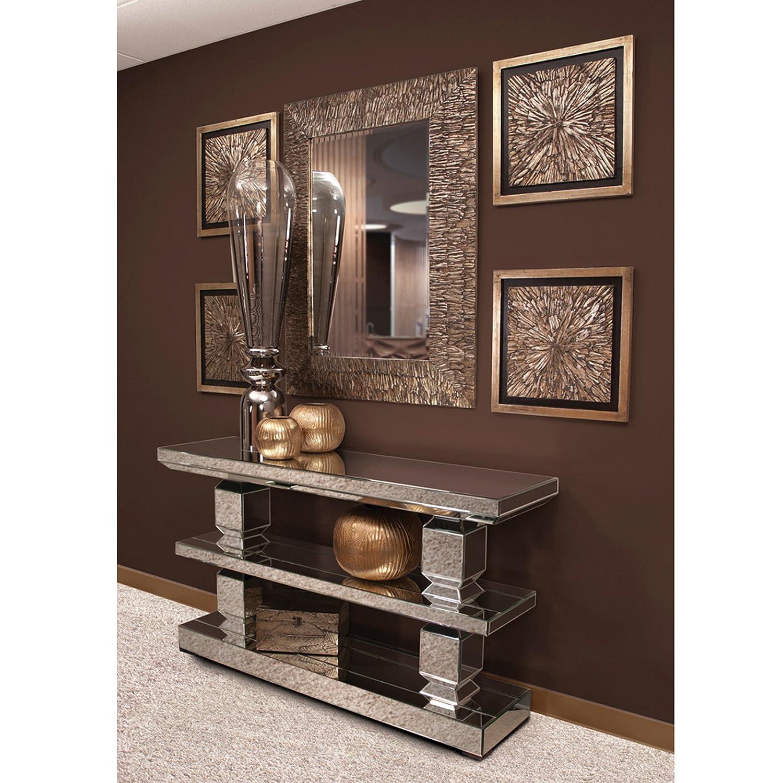 Amazon.com: Howard Elliott 99028 Mirrored 3 Shelf Console Table: Kitchen U0026  Dining