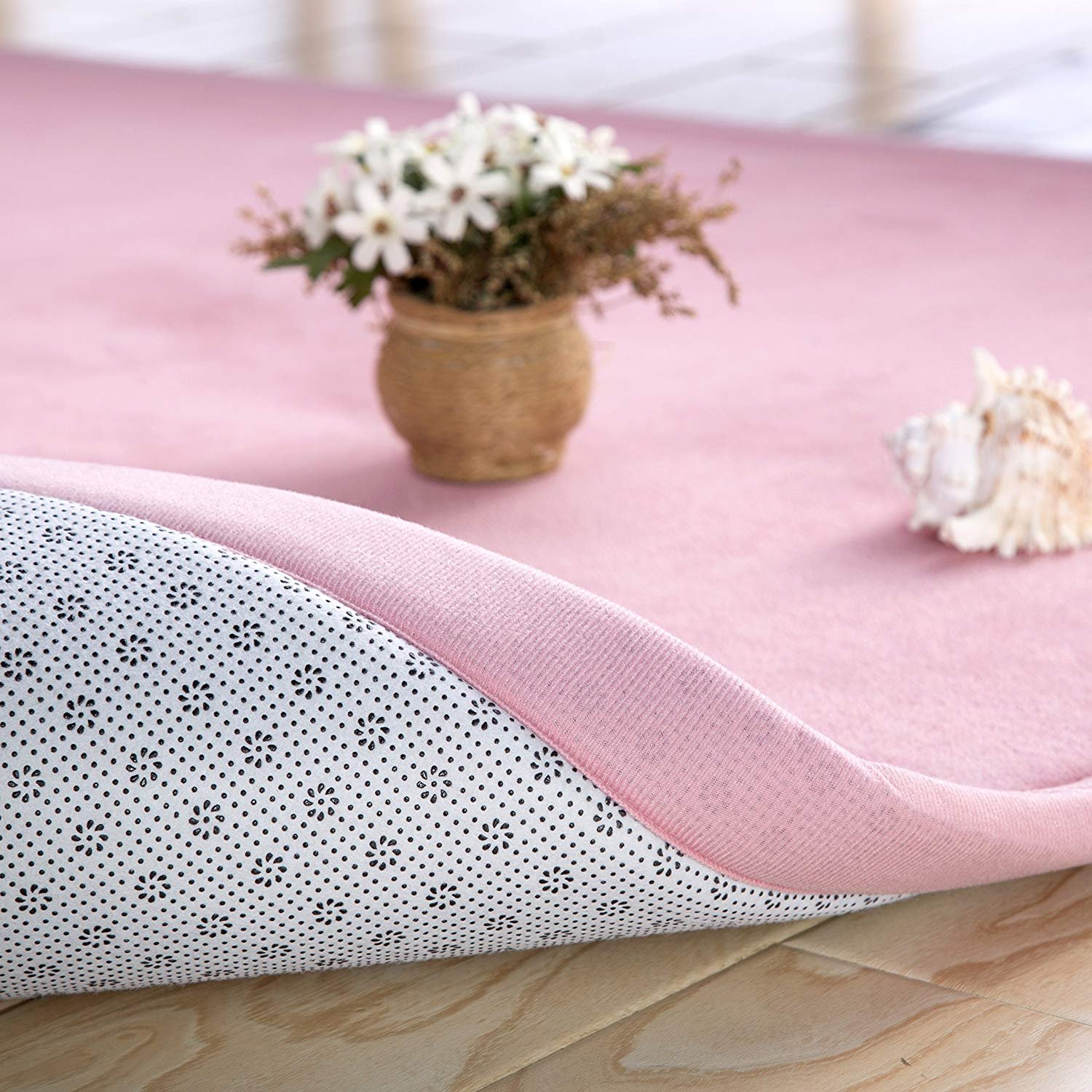 Loartee Coral Velvet Mat Area Rugs Play Crawling mat for Nursery Baby Toddler Children Kids,Yoga Mat Exercise Pads